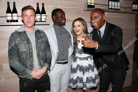 Warren Kole, Dayo Okeniyi, Sarah Jeffery and Hampton Fluker
