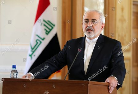 Iranian Foreign Minister Mohammad Javad Zarif Speaks During a Joint Press Conference with His Iraqi Counterpart Ibrahim Al-jafari (not Pictured) in Tehran Iran 06 January 2016 Zarif on 06 January Said Iran Wants No Tension in the Region and Would Always Welcome Dialogue with Its Neighbors Amid Growing Regional Dispute Surrounding Saudi Arabia's Weekend Execution of Dissident Shiite Cleric Nimr Al-nimr and After Saudi Arabia Bahrain and Kuwait Broke Off Diplomatic Relations with Iran Iran (islamic Republic Of) Tehran