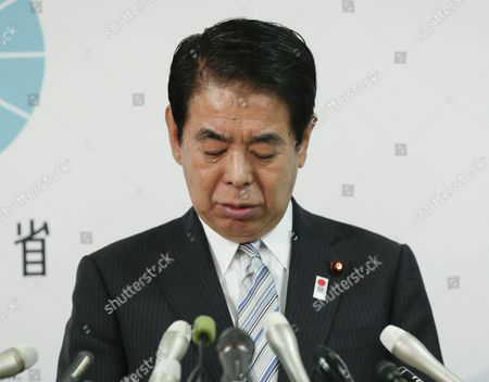 Japanese Education and Sports Minister Hakubun Shimomura Speaks During a News Conference at His Ministry in Tokyo Japan 25 September 2015 Following a Cabinet Meeting at Prime Minister's Official Residence Shimomura Expressed His Intention to Resign to Take His Responsibility Over the Mishandling of a Project to Build the 2020 Tokyo Olympics Main Stadium at the News Conference and Said That Prime Minister Shinzo Abe Asked Him to Stay on the Position Until a Planned Cabinet Reshuffle in Early October Japan Tokyo