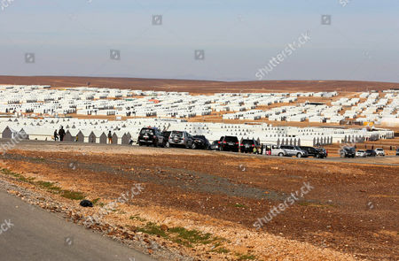 A General View For Azraq Syrian Refugee Camp Jordan 30 January 2016 Jordanian Prime Minister Abdullah Ensour Visited the Camp Days Before the Fourth International Donors' Conference in London to Discuss the Refugee Crisis and Ways to Support Them and the Host Countries Jordan Azraq