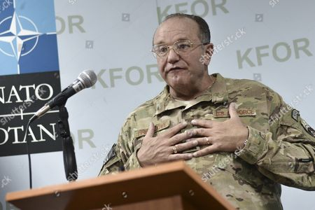 Us Four Star General Philip Breedlove the Supreme Allied Commander Europe of Nato Allied Command Operations Holds a Press Conference in Pristina Kosovo 04 September 2015 General Philip Breedlove is on a One-day Official Visit to Kosovo Serbia and Montenegro Pristina