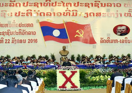 A Photo Made Available on 22 January 2016 Shows Laos President Choummaly Sayasone Speaks During the Communist Party Congress in Vientiane Laos 17 January 2016 the Laos' Secretive Ruling Communist Party Held Its Five-day Congress to Choose a New Party Leader and Select Politburo and Central Committee Lao People's Democratic Republic Vientiane