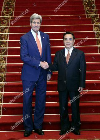 Editorial photo of Laos Usa Kerry Diplomacy - Jan 2016