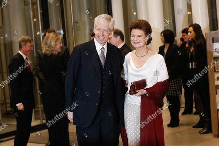 Prince Nikolaus of Liechtenstein (l) and Princess Margaretha of Liechtenstein Arrive at the Philharmonie Luxembourg the Grande-duchesse Josephine-charlotte Concert Hall in Luxembourg 09 January 2016 the Royal Family Invited to a Special Concert by the Luxembourg Philharmonic Orchestra to Mark the 95th Birthday of Former Grand Duke Jean on 05 January Luxembourg Luxembourg