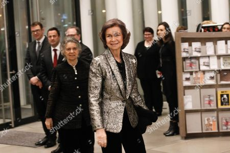 Spain's Queen Sofia (c) Arrives at the Philharmonie Luxembourg the Grande-duchesse Josephine-charlotte Concert Hall in Luxembourg 09 January 2016 the Royal Family Invited to a Special Concert by the Luxembourg Philharmonic Orchestra to Mark the 95th Birthday of Former Grand Duke Jean on 05 January Luxembourg Luxembourg