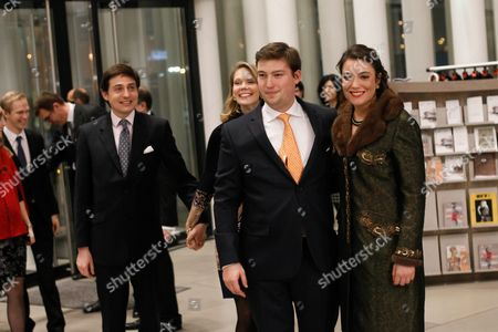 Luxembourg's Princess Alexandra (r) and Prince Sebastien Arrive at the Philharmonie Luxembourg the Grande-duchesse Josephine-charlotte Concert Hall in Luxembourg 09 January 2016 the Royal Family Invited to a Special Concert by the Luxembourg Philharmonic Orchestra to Mark the 95th Birthday of Former Grand Duke Jean on 05 January Luxembourg Luxembourg