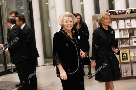 Dutch Princess Beatrix (c) Arrives at the Philharmonie Luxembourg the Grande-duchesse Josephine-charlotte Concert Hall in Luxembourg 09 January 2016 the Royal Family Invited to a Special Concert by the Luxembourg Philharmonic Orchestra to Mark the 95th Birthday of Former Grand Duke Jean on 05 January Luxembourg Luxembourg
