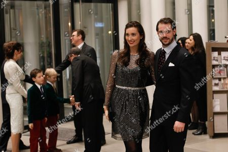 Luxembourg's Prince Felix (r) and His Wife Princess Claire (2-r) Arrive at the Philharmonie Luxembourg the Grande-duchesse Josephine-charlotte Concert Hall in Luxembourg 09 January 2016 the Royal Family Invited to a Special Concert by the Luxembourg Philharmonic Orchestra to Mark the 95th Birthday of Former Grand Duke Jean on 05 January Luxembourg Luxembourg