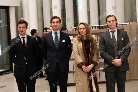 Prince Constantin of Nassau (l) Prince Wenceslas of Nassau (2-l) Princess Marie Gabrielle of Nassau (2-r) and Prince Carl Johann of Nassau Arrive at the Philharmonie Luxembourg the Grande-duchesse Josephine-charlotte Concert Hall in Luxembourg 09 January 2016 the Royal Family Invited to a Special Concert by the Luxembourg Philharmonic Orchestra to Mark the 95th Birthday of Former Grand Duke Jean on 05 January Luxembourg Luxembourg