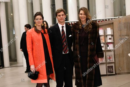 Princess Astrid of Liechtenstein (l) Prince Joseph-emmanuel of Liechtenstein (c) and Princess Maria-annunciata of Liechtenstein Arrive at the Philharmonie Luxembourg the Grande-duchesse Josephine-charlotte Concert Hall in Luxembourg 09 January 2016 the Royal Family Invited to a Special Concert by the Luxembourg Philharmonic Orchestra to Mark the 95th Birthday of Former Grand Duke Jean on 05 January Luxembourg Luxembourg
