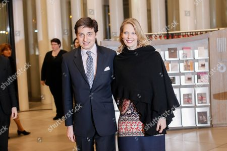 Archduchess Marie-christine De Limburg- Stirum (r) and Count Rodolphe De Limburg-stirum (l) Arrive at the Philharmonie Luxembourg the Grande-duchesse Josephine-charlotte Concert Hall in Luxembourg 09 January 2016 the Royal Family Invited to a Special Concert by the Luxembourg Philharmonic Orchestra to Mark the 95th Birthday of Former Grand Duke Jean on 05 January Luxembourg Luxembourg