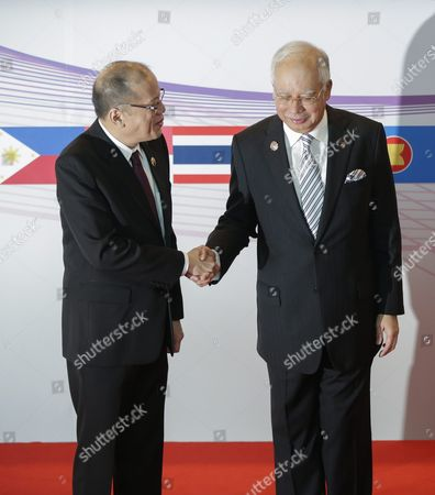 Prime Minister of Philippines Benigno S Aquino Iii (l) is Welcomed by Malaysia Prime Minister Najib Razak (r) During the Asean Summit in Kuala Lumpur Malaysia 21 November 2015 Malaysia is Hosting the 27th Asean Summit a Meeting Between Asean Member Countries and Its Three Dialogue Partners As Well As a Meeting of the East Asia Summit (eas) Forum Malaysia Kuala Lumpur