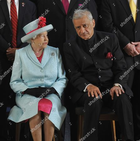 Britain's Queen Elizabeth Ii and Commonwealth Secretary General Kamalesh Sharma During the Commonwealth Heads of Government Meeting (chogm) Opening Ceremony at the Mediterranean Conference Centre Near Valletta Malta 27 November 2015 Commonwealth Leaders Are Meeting in Malta From 27-29 November 2015 the Leaders Will Address Global Issues Such As Climate Change Building Resilience in Small States Trade and Sustainable Development the Empowerment of Youth Gender Equality and Human Rights Epa/lino Arrigo Azzopardi Malta Valletta