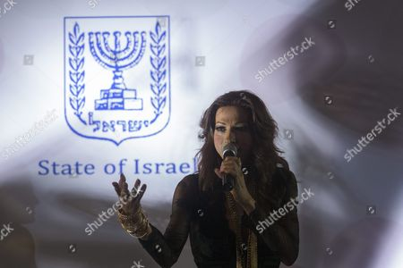 Israeli Transgender Pop Star Diva Dana International Born Yaron Cohen Performs For the Foreign Press in Jerusalem Prior to the Prime Minister Benjamin Netanyahu Making a Speech For the New Year in Jerusalem Israel 14 January 2016 Dana International Won the Eurovision Song Contest in the Uk in 1998 with the Song 'Diva ' Israel Jerusalem