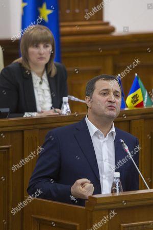 Editorial photo of Moldova Parliament Vlad Immunity - Oct 2015