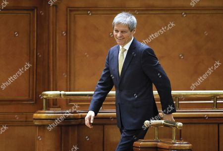 Designated Romanian Prime Minister Dacian Ciolos Smiles Shortly After He Passed His Cabinet Trough the Validation Procedure Held at Parliament Palace in Bucharest Romania 17 November 2015 Ciolos 46 who Served As Eu Agriculture Commissioner Since 2010 was Appointed by Romania's President Klaus Iohannis After Victor Ponta Resigned to Form a Technocratic Government to Rule the Country Until Elections Next Year Romania Bucharest
