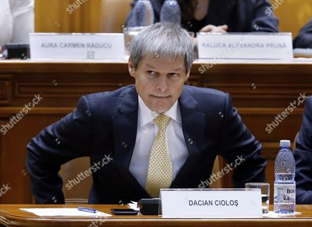 Designated Romanian Prime Minister Dacian Ciolos Takes His Seat After Addressing Lawmakers During the Validation Vote Session Held at Parliament Palace in Bucharest Romania 17 November 2015 Ciolos 46 who Served As Eu Agriculture Commissioner Since 2010 was Appointed by Romania's President Klaus Iohannis After Victor Ponta Resigned to Form a Technocratic Government to Rule the Country Until Elections Next Year Romania Bucharest