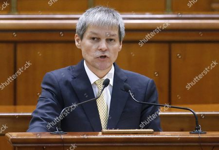 Designated Romanian Prime Minister Dacian Ciolos Addresses Lawmakers During the Validation Vote Session Held at Parliament Palace in Bucharest Romania 17 November 2015 Ciolos 46 who Served As Eu Agriculture Commissioner Since 2010 was Appointed by Romania's President Klaus Iohannis After Victor Ponta Resigned to Form a Technocratic Government to Rule the Country Until Elections Next Year Romania Bucharest