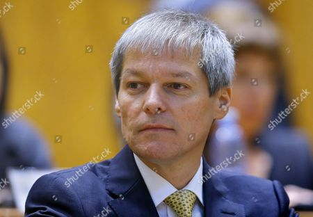 Designated Romanian Prime Minister Dacian Ciolos Looks on After Addressing to Lawmakers During the Validation Vote Session Held at Parliament Palace in Bucharest Romania 17 November 2015 Ciolos 46 who Served As Eu Agriculture Commissioner Since 2010 was Appointed by Romania's President Klaus Iohannis After Victor Ponta Resigned to Form a Technocratic Government to Rule the Country Until Elections Next Year Romania Bucharest