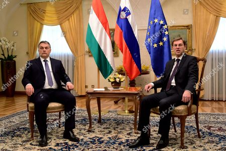 Editorial picture of Slovenia Hungary Diplomacy - Jan 2016