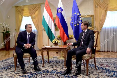 Slovenian Prime Minister Miroslav Cerar (r) Meets with His Hungarian Counterpart Viktor Orban During His One-day Visit to Slovenia at Brdo Near Kranj 22 January 2016 Slovenia Brdo Pri Kranju