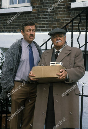Stock Picture of 'Love and Marriage'  TV - 1984 - William Gaunt as Philip Merrick and Wensley Pithey as Owen Merrick.
