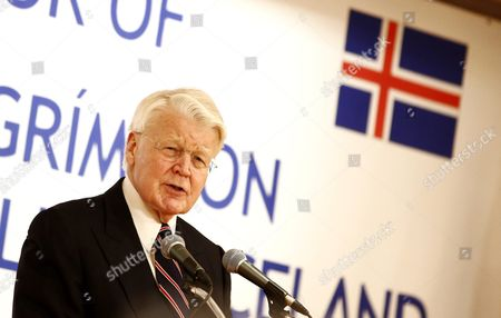 Icelandic President Olafur Ragnar Grimsson Speaks During a Luncheon Hosted by the Four Economic Organizations in Seoul South Korea 09 November 2015 President Olafur Ragnar Grimsson is in Seoul on a Three-day Official Visit to Promote Cooperation Between the Two Countries Korea, Republic of Seoul