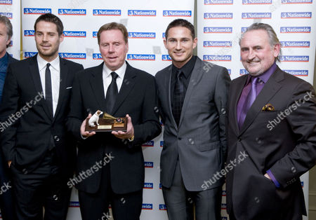 Jamie Redknapp with father Harry Redknapp, cousin Frank Lampard Jnr., and  uncle Frank Lampard Snr.