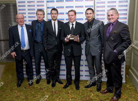 Jim Smith, Kevin Bond, Jamie Redknapp with father Harry Redknapp, cousin Frank Lampard Jnr., and  uncle Frank Lampard Snr.
