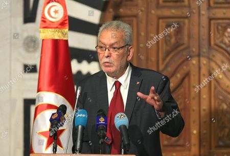 Tunisian Minister in Charge of Government Relations with Civil Society Kamel Jendoubi Speaks During a Press Conference at the Government Palace in Tunis Tunisia on 07 July 2015 Jendoubi Said That Eight People in Connection with the Attack on 26 June in Sousse Have Been Arrested Tunisia Tunis