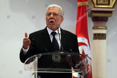 Tunisian Foreign Taieb Baccouche Speaks During a Joint Press Conference with His British Counterpart Philip Hammond (not Pictured) at the Ministry of Foreign Affairs in Tunis Tunisia 27 November 2015 Philip Hammond's Visit is Part of 'Britain's Full Commitment to Supporting Tunisia in This Critical Phase to Back Its Counter-terrorism Efforts ' the Ministry of Foreign Affairs Said Tunisia Tunis
