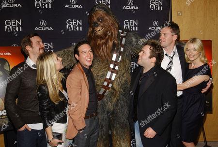Sam Huntington, Kristen Bell, Chris Marquette, Chewbacca, Dan Fogler, Kyle Newman and Jaime King