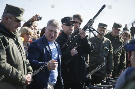Ukrainian Secretary to the National Security and Defence Council Oleksandr Turchynov (c) Together with Soldiers of the Ukrainian National Guard Inspect New Weapons Before a Training Session on the Shooting Range in the Village of Stare Some 80 Km From Kiev Ukraine 02 October 2015 Russian President Vladimir Putin Arrived in Paris For Talks with French President Francois Hollande Before a Four-way Summit This Afternoon with the Leaders of Ukraine and Germany Ukraine Kiev