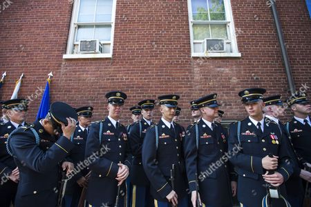 Members of the Third U S Infantry Regiment Old Guard Prepare to Participate in a Ceremony to Mark the Transition of Army Chief of Staff From General Raymond Odierno to General Mark Milley at Summerall Field on Joint Base Myer in Arlington Va Usa 14 August 2015 United States Arlington