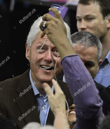 Former Us President Bill Clinton Shakes Hands with Supporters After Campaigning For His Wife Hillary Clinton (not Pictured) at Paul Quinn College in Dallas Texas Usa 22 February 2016 Bill Clinton is the First United States President to Ever Visit Paul Quinn College and Campaigns For His Wife Hillary Before the Upcoming Super Tuesday when Texas Will Vote United States Dallas