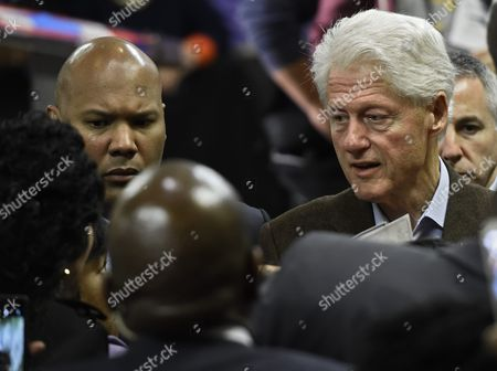 Former Us President Bill Clinton (r) Shakes Hands with Supporters After Campaigning For His Wife Hillary Clinton (not Pictured) at Paul Quinn College in Dallas Texas Usa 22 February 2016 Bill Clinton is the First United States President to Ever Visit Paul Quinn College and Campaigns For His Wife Hillary Before the Upcoming Super Tuesday when Texas Will Vote United States Dallas