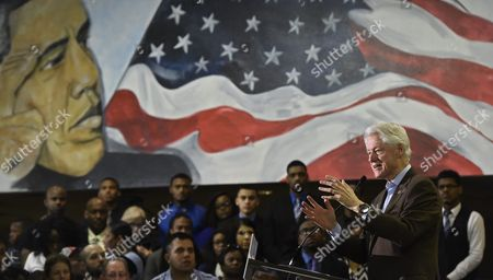 Former Us President Bill Clinton (r) Speaks As He Campaigns For His Wife Hillary Clinton (not Pictured) at Paul Quinn College in Dallas Texas Usa 22 February 2016 Bill Clinton is the First United States President to Ever Visit Paul Quinn College and Campaigns For His Wife Hillary Before the Upcoming Super Tuesday when Texas Will Vote United States Dallas