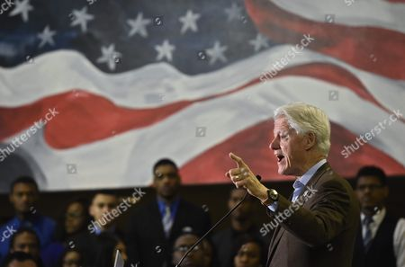 Former Us President Bill Clinton Speaks As He Campaigns For His Wife Hillary Clinton (not Pictured) at Paul Quinn College in Dallas Texas Usa 22 February 2016 Bill Clinton is the First United States President to Ever Visit Paul Quinn College and Campaigns For His Wife Hillary Before the Upcoming Super Tuesday when Texas Will Vote United States Dallas