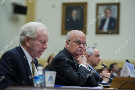 Former Director of the National Security Agency General Michael Hayden (c) with Ambassador Nicholas Burns (r) Listens As Former Senator Joseph Lieberman (l) Delivers Remarks During a House Foreign Affairs Committee Discussing the Implications of a Nuclear Agreement with Iran on Capitol Hill in Washington Dc Usa 14 July 2015 Earlier in the Day Us President Barack Obama Delivered a Televised Address to the Nation Announcing a Nuclear Agreement with Iran the Us Congress Has 60 Days to Approve Or Reject the Deal United States Washington