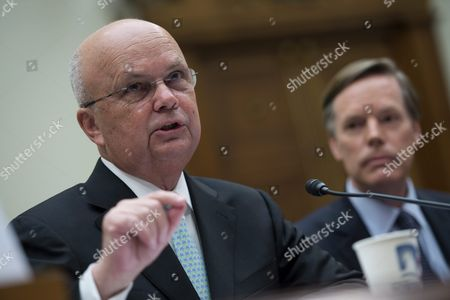 Former Director of the National Security Agency General Michael Hayden (l) with Ambassador Nicholas Burns (r) Delivers Remarks During a House Foreign Affairs Committee Discussing the Implications of a Nuclear Agreement with Iran on Capitol Hill in Washington Dc Usa 14 July 2015 Earlier in the Day Us President Barack Obama Delivered a Televised Address to the Nation Announcing a Nuclear Agreement with Iran the Us Congress Has 60 Days to Approve Or Reject the Deal United States Washington