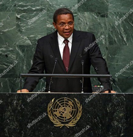 Tanzania's President Jakaya Mrisho Kikwete Delivers His Address During the 70th Session General Debate of the United Nations General Assembly at United Nations Headquarters in New York New York Usa 29 September 2015 United States New York