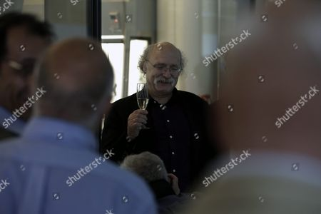 British Professor of Physics F Duncan Haldane (c) Has a Glass of Champagne Amongst Colleagues at a Reception After Winning the Nobel Prize in Physics in Princeton New Jersey Usa 04 October 2016 the Royal Swedish Academy of Sciences in Stockholm Announced the Nobel Prize in Physics Winners British-born Scientists David Thouless Duncan Haldane and Michael Kosterlitz the Academy Cited Their 'Theoretical Discoveries of Topological Phase Transitions and Topological Phases of Matter ' United States New York