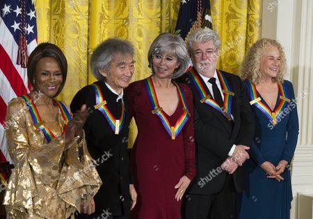 Editorial photo of Usa Obama Kennedy Center - Dec 2015