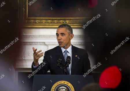 U S President Barack Obama Speaks at a Press Conference About Russian President Putin's Engagement in Syria in the State Dining Room of the White House in Washington Dc Usa 02 October 2015 Earlier Obama Announced That Arne Duncan is Stepping Down As Secretary of Education Duncan Has Served in the Post For Seven Years; Obama Has Asked Education Department Official John King Jr to Take Duncan's Place United States Washington