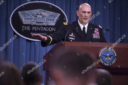 The 38th Us Army Chief of Staff General Ray Odierno Responds to a Question During a Press Conference at the Pentagon in Arlington Virginia Usa 12 August 2015 During His Final Press Conference General Odierno Reflected on His Tenure As Army Chief of Staff and on Challenges Facing the Army United States Arlington