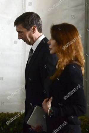 Stock Picture of Ronald Reagan Jr (l) and Patti Davis (r) Leave to Pay Their Final Farewells to Their Mother Former Us First Lady Nancy Reagan at the Ronald Reagan Presidential Library in Simi Valley California Usa 11 March 2016 Nancy Reagan the Wife of Former Us President Ronald Reagan Died Age 94 at Her Home in Bel Air California on 06 March United States Simi Valley