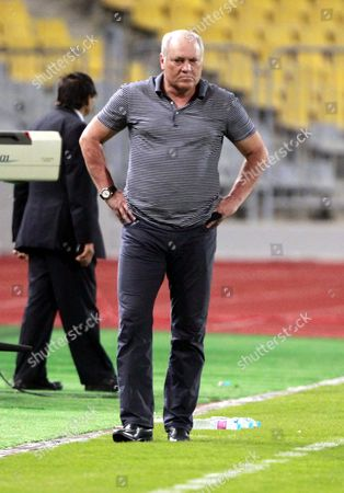 Stock Photo of Al-ahly Coach Martin Jol During the Final Soccer Match of the Egyptian Cup 2010 Between Al-ahly and Zamalek at Borg Al Arab Stadium in Alexandria Egypt 08 August 2016 Egypt Alexandria