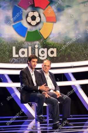 Spanish Former Soccer Player Raul Gonzalez Blanco (l) Former Captain of Real Madrid Soccer Team is Named Director and Ambassador of the Liga De Futbol Profesional (professional Soccer League) in the New Lfp Office That Will Be Opened in New York During a Presser at the Bein Sports Studios in Miami Florida Usa on 28 December 2015 Bein Sports is Broadcasting La Liga and El Larguero Foundations 'La Liga Promises ' the First World Youth Clubs Soccer Tournament in the United States United States Miami