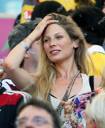 Sarah Brandner Girlfriend of Germany's Bastian Schweinsteiger on the Stands During the Fifa World Cup 2014 Quarter Final Match Between France and Germany at the Estadio Do Maracana in Rio De Janeiro Brazil 04 July 2014 (restrictions Apply: Editorial Use Only not Used in Association with Any Commercial Entity - Images Must not Be Used in Any Form of Alert Service Or Push Service of Any Kind Including Via Mobile Alert Services Downloads to Mobile Devices Or Mms Messaging - Images Must Appear As Still Images and Must not Emulate Match Action Video Footage - No Alteration is Made to and No Text Or Image is Superimposed Over Any Published Image Which: (a) Intentionally Obscures Or Removes a Sponsor Identification Image; Or (b) Adds Or Overlays the Commercial Identification of Any Third Party Which is not Officially Associated with the Fifa World Cup) Brazil Rio De Janeiro