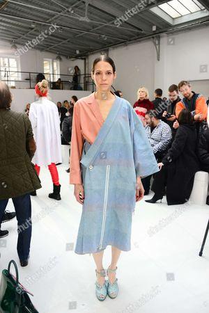 Editorial photo of Anne Sofie Madsen show, Front Row, Autumn Winter 2017, Paris Fashion Week, France - 01 Mar 2017